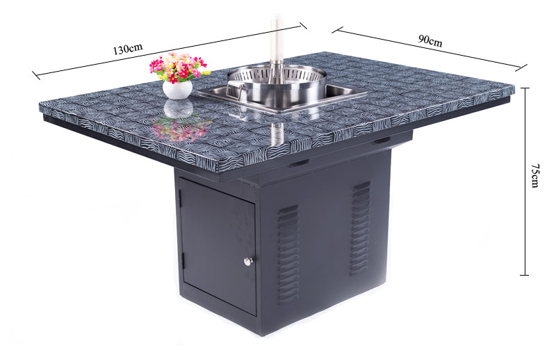 Commercial Dining Table Restaurant Hot Pot Table's size-CENHOT