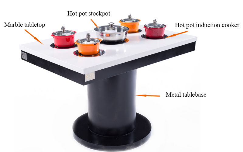 Commercial Customized Restaurant Indoor Hot Pot Tables' structure-CENHOT