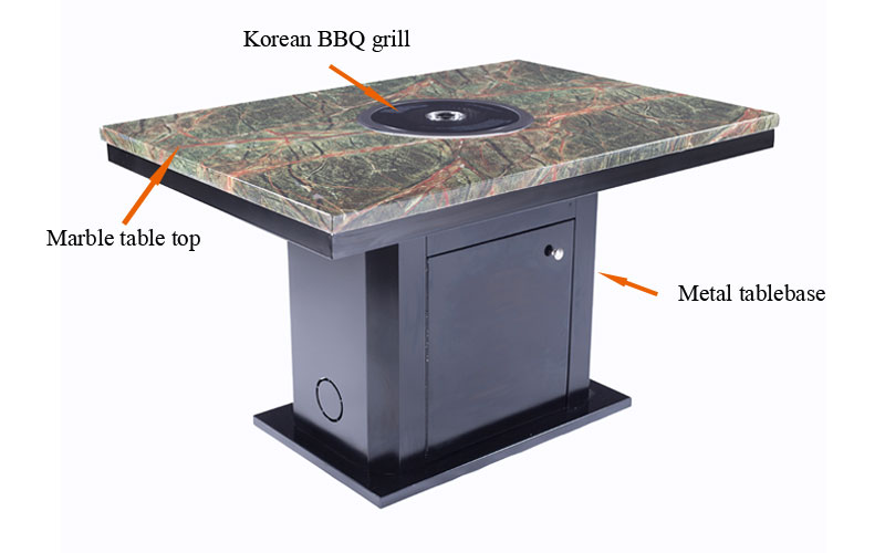 CENHOT Hot Selling Restaurant Korean BBQ Tables' structure