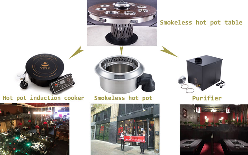 smokeless-hot-pot-with-the-purifier-equipment-in-the-restaurant-CENHOT