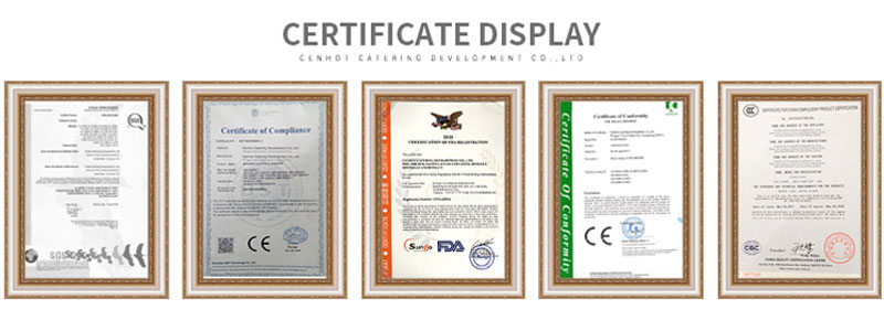 CENHOT PRODUCTS CERTIFICATIONS
