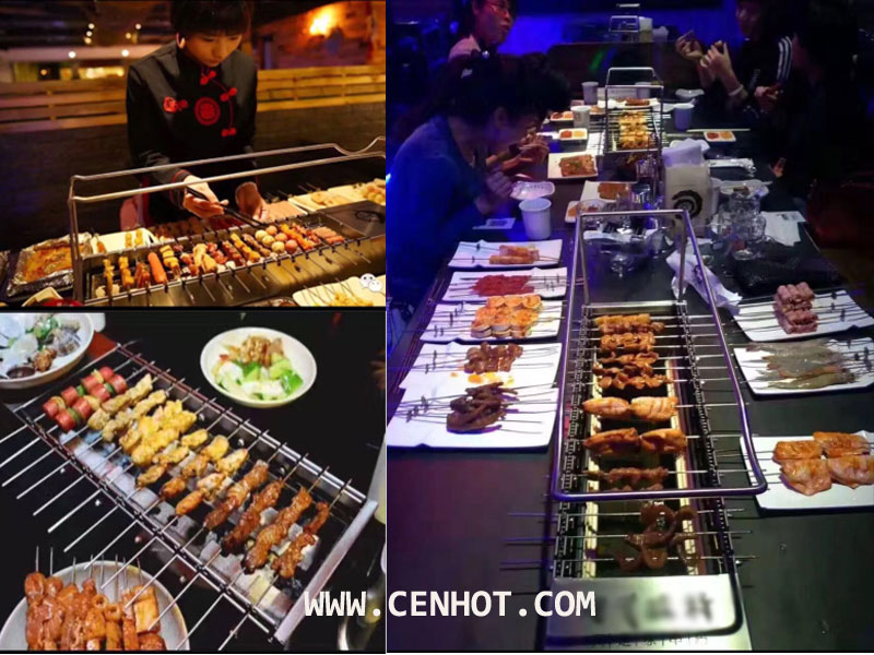 CENHOT Automatic Rotating Restaurant BBQ Grill Equipment - Application place