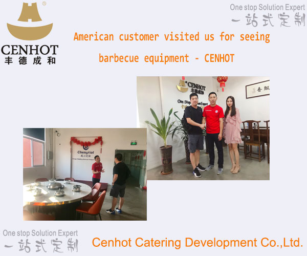 American customer visited us for seeing barbecue equipment - CENHOT