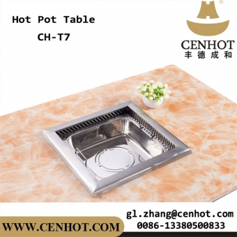 CENHOT Large Smokeless Hot Pot Restaurant Dining Tables Supplier