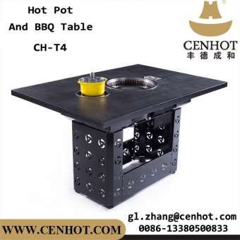 CENHOT Korean Style Restaurant BBQ Grill Hotpot Tables For Sale
