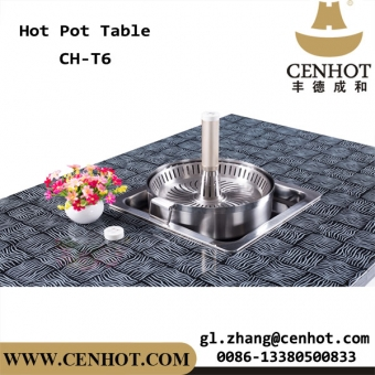 CENHOT Commercial Restaurant Hot Pot Table With Lift Hot Pot