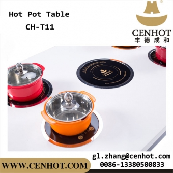 CENHOT Commercial Customized Restaurant Dining Table Indoor Hot Pot Table
