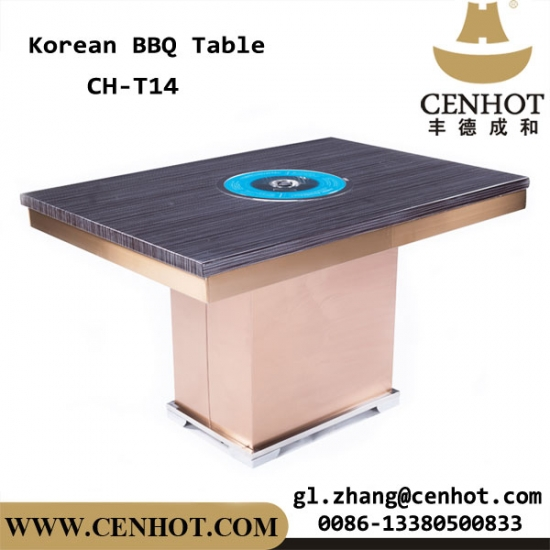 CENHOT Korean Barbecue Tables BBQ Grill Tables For Restaurant - Standing table for restaurant