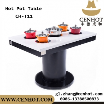 Commercial Customized Restaurant Dining Table Indoor Hot Pot Table