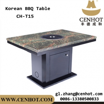 CENHOT Hot Selling Restaurant Korean BBQ Tables With BBQ Grills