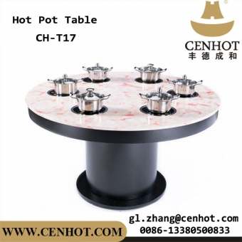 Shabu Shabu Restaurant Dining Tables Induction Cookers Built-in The Hotpot Tables