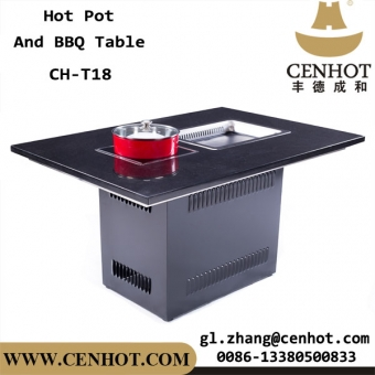 Restaurant Furniture Built-in Type Korean Hot-pot BBQ Grill Tables