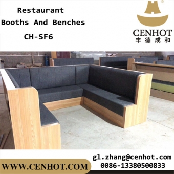 CENHOT Wooden Circular Restaurant Booths And Couches Seating