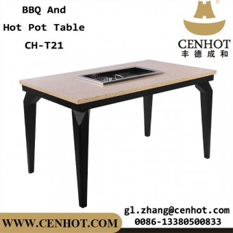 CENHOT Korean BBQ And Hot Pot Tables For Restaurant China