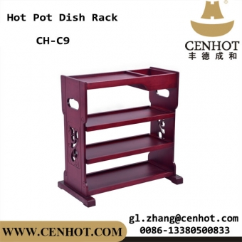 CENHOT Solid Wood Hot Pot Dish Racks With Four-tier CH-C9