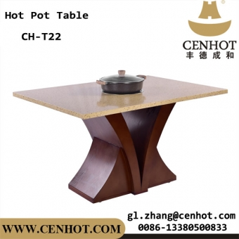 CENHOT Custome Hot Pot Table With 1 Big Induction Cooker