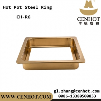 CENHOT Square Golden Sunken Steel Rings On The Hot Pot Tables
