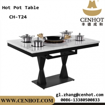 CENHOT Quartz Stone Hot Pot Table 1 Big With 4 Small Single Hot Pot China