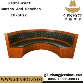 CENHOT Wooden Half Circle Booths For Restaurant Suppliers China CH-SF22