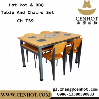 CENHOT Shabu Shabu Hot Pot Table And Chairs Set Supply China